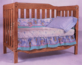amish kountry convertible collection solid oak youth bed