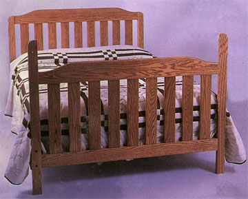 amish kountry konvertible collection solid oak child bed