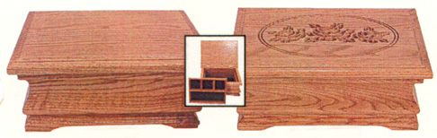 solid oak jewelry boxes made by the amish