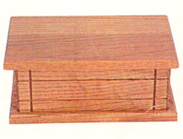 solid oak amish made mens jewelry box