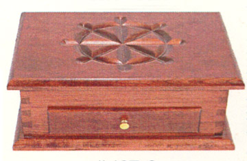 amish made solid cherry deluxe jewelry box with drawer