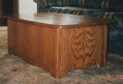 brentwood solid oak amish coffee table