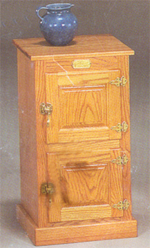 Amazing Solid Oak 2 Door Icebox Stand Or Cabinet