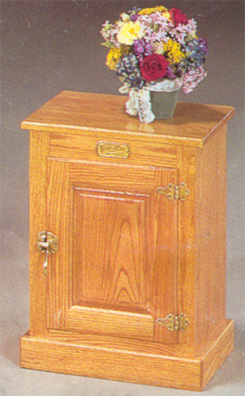 WHite Clad Icebox End Table - Clayborne's Amish Furniture