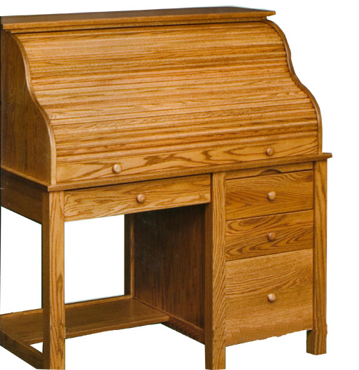 amish solid oak large rolltop desk shown closed cover desk