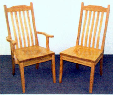 Amish made michian shaker chairs