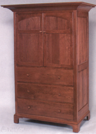 new bedford solid oak armoire
