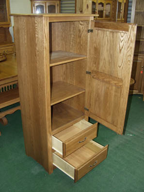 Inside view of smaller Amish made pantry cabinet