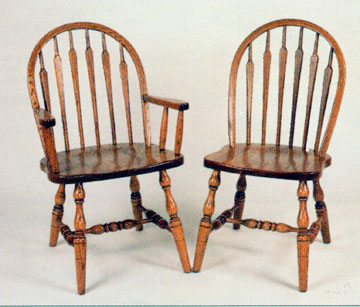 Amish chair low back arrow of oak or cherry