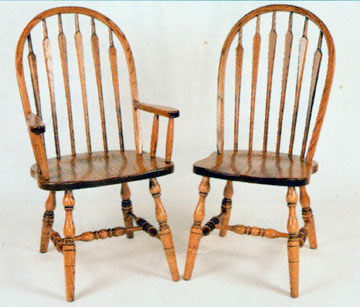 Amish chair high back arrow of oak or cherry