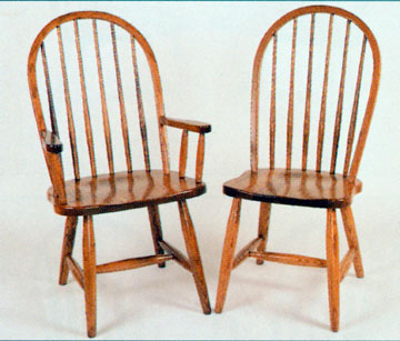 Exceptionnel Amish Chair High Back Spindle Of Oak Or Cherry