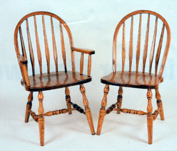 Amish chair low back bent feather of oak or cherry