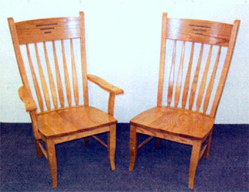 Classic Shaker Chairs with Inlay - Made by the Amish