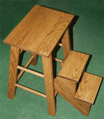 Amish made solid oak step stool