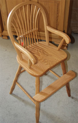 Amish Made Sheaf Back Toddler Chair In Solid Oak