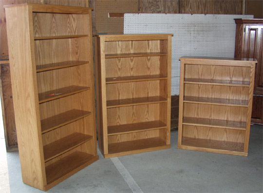 clayborne's solid oak bookshelves