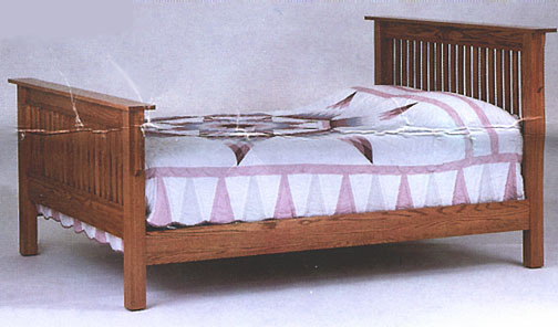 amish briarwood mission bed in solid oak