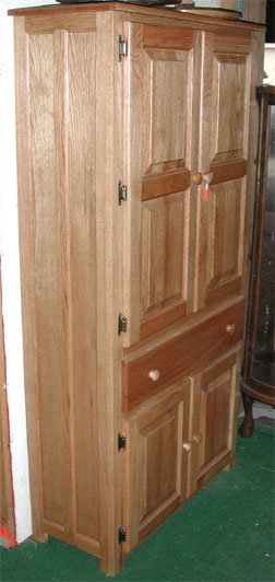 Solid Wood Pantry Cabinet With The Original Amish Oak Pantry Cabinet By  Clayborneus Amish With Pantry