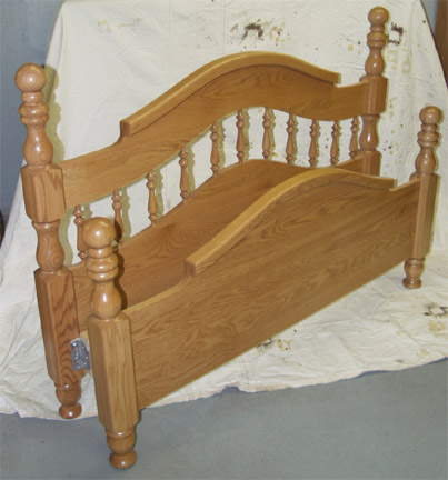 amish crafted solid oak curved top bed frame  by clayborne's, Headboard designs