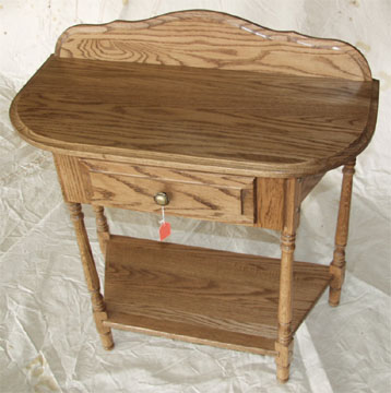Amish made solid oak hall table with drawer