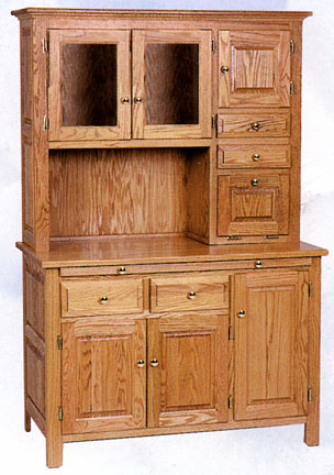 amish solid oak handcrafted hoosier cabinet
