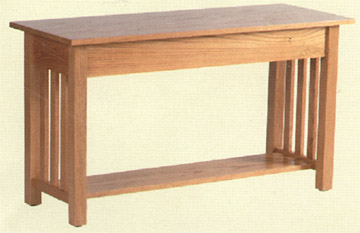 amish made solid oak mission style sofa table