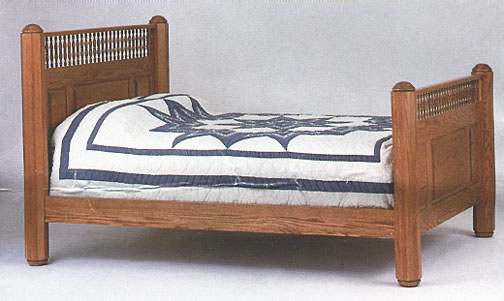 amish briarwood old english bed in solid oak