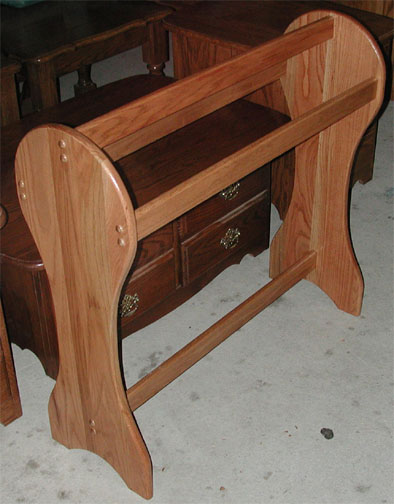 Amish Made Heavy Duty Floor Standing Quilt Rack In Solid Oak