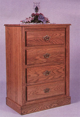 amish solid oak convertible changing table - dresser view