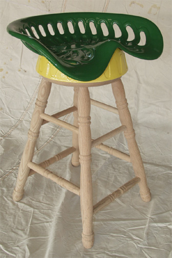 amish tractor seat stool novelty solid oak