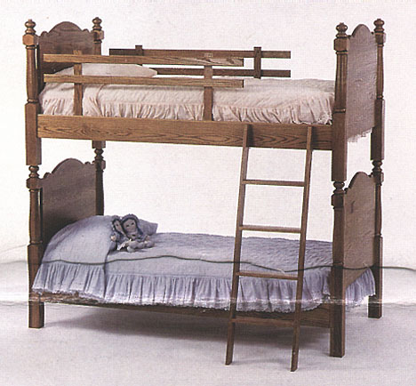 amish briarwood traditional bunk in solid oak